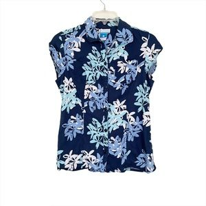 Columbia Floral Button Down Sleeveless Top